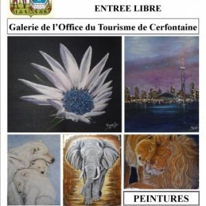 Exposition des peintures de Jacqueline Rigaux et Lysianne Gennaux à Cerfontaine