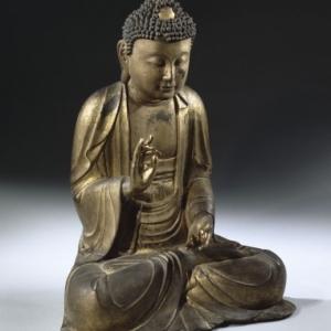 Bouddha assis faisant le geste de la prédication © MNAAG, Paris, Dist. RMN-Grand Palais /Jean-Yves et Nicolas Dubois