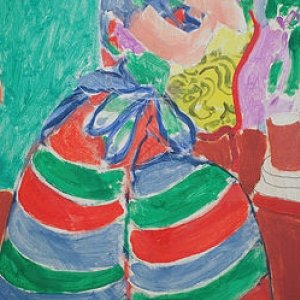 Henri Matisse, la robe rayée, cpywright suxccession Henri Matisse - sabam 2016