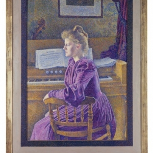 Théo Van  Rysselberghe, Maria Sèthe aan het harmonium, 1891