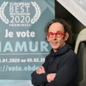 Le comedien Vincent Page vote pour Namur (c) Office du Tourisme de Namur