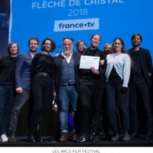 """L equipe du film """"C est ca l Amour"""", Fleche de Cristal"""" du (c) """"Les Arcs Film Festival"""""""