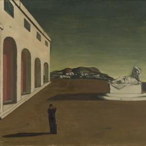 """La Melancolie d une belle Journee"" (Giorgio de Chirico/1915/69,5 x 86,5 cm) (c) ""SABAM Belgium 2019"""