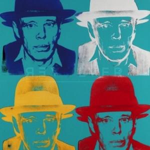 """""""Portrait de Joseph Beuys""""/1980/102 x 80 cm/Andy Warhol/Coll. Province du Hainaut/en depot au """"BPS22""""/Charleroi"""