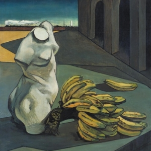 """L Incertitude du Poete"" (Giorgio de Chirico/1913/106 x 94 cm) (c) ""Tate Images"" / ""SABAM Belgium 2019"""