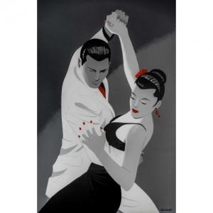 """""""Tango Argentino"""" (41 x 26,5 cm) (c) Philippe Berthet 2018"""