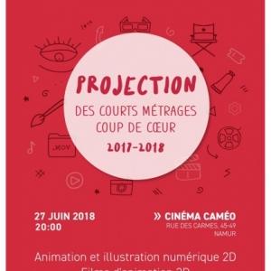 """Courts-Métrages de l' """"HEAJ"""", au """"Caméo"""", à Namur"""