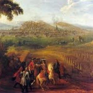 """Siege de Namur par Louis XIV (c) Musee """"Groesbeek de Croix"""