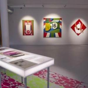"""L une des salles du """"Delta"""", consacrees de l exposition """"Evelyne Axell, Methodes Pop"""""""