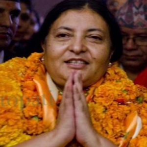 "La Presidente du Nepal (c) ""Financial Express"""