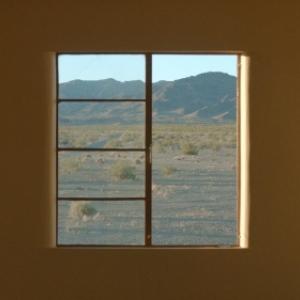La Californie, vue d une fenetre d un Motel californien
