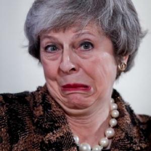 "Theresa May (c) Olivier Hoslet/""Agence EPA"""