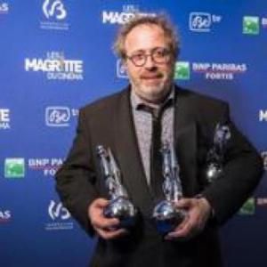 """Jaco Van Dormael et ses 3 """"Magritte du Cinema"""" personnels, en 2011, pour """"Mr. Nobody"""" (c)  """"Moustique"""""""