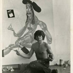 "Devant ""California Artist"" (1973), a Mill Valley, Californie (c) ""Michael Werner Gallery"""