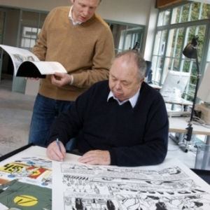 """Jean et Philippe Graton, a la fin des annees '90 (c) """"Graton Editeur""""/""""Fondation MichelVaillant"""""""