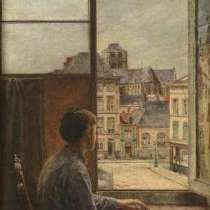 """""""La Place Teniers"""" (1876) (c) Henri De Braekeleer"""