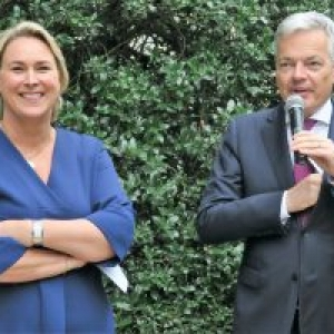 Celine Fremault et Didier Reynders (c) Laszlo Arany