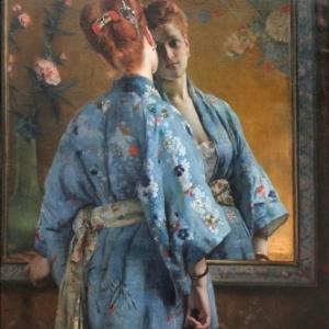"""""""La Parisienne japonaise"""" (1872) (c) Alfred Stevens (c) Ville de Liege"""