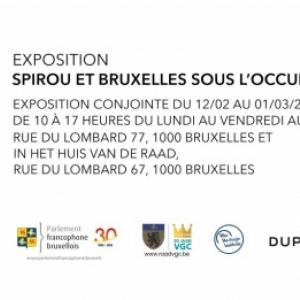 """Deux Expos """"Spirou et Bruxelles sous l'Occupation"""", Rue du Lombard, jusqu'au 1er Mars"""