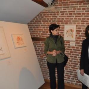 "Les deux commissaires, Cristina Tavera (a droite) et Patrizia Zanotti (c) ""EdA"""