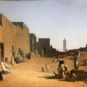 """""""Laghouat"""" (1879/122 x181 cm/""""Musee d Orsay""""/Paris)"""