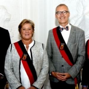 Le Conseil provincial : Amaury Alexandre, Genevieve Lazaron, Jean-Marc Van Espen et Richard Fournaux (c) Andre Dubuisson