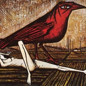 """Les Oiseaux : L Oiseau rouge""/1959 (c) Bernard Buffet/""Galerie Tamenaga"""