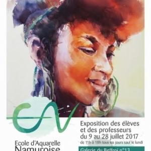 27ème Expo de l' « Ecole d'Aquarelle Namuroise », à la « Galerie du Befroi », jusqu'au 28 Juillet