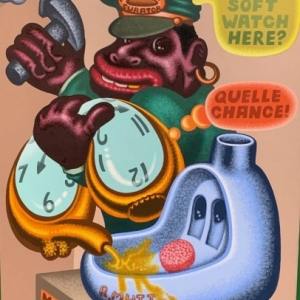 """""""Hang Soft Watch Here ?"""" (1997) (c) Peter Saul/""""Artist s Rights Society"""", New York"""