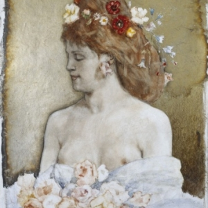"""Flore""/Felicien Rops/s.d. (c) ""Kroller-Muller Museum"""