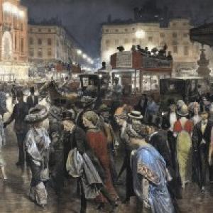 """Picadily Circus"" (c) Fortunino Matania-""Berko Fine Paintings"""