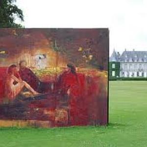 """Devant le Chateau de la Hulpe (2009) (c) Jean-Jacques/""""Canalblog""""/Pierre Debatty"""