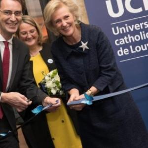 """Inauguration du nouveau """"Musee L"""" par la Princesse Astrid, le 18 novembre 2017 (c) """"News"""""""