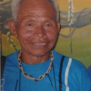 """Pedro Inacio Pinheiro Ngematucu (1944-2018), laureat du Prix """"Roma Brasilia Citta della Pace"""", en 1991"""