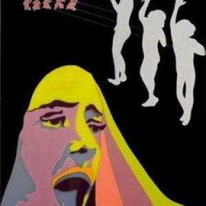 "Au ""Delta"", ""Campus""/1970/email sur plexiglas (c) Evelyne Axell./Collection Philippe Axell/""Musee des Beaux-Arts d Ixelles"""