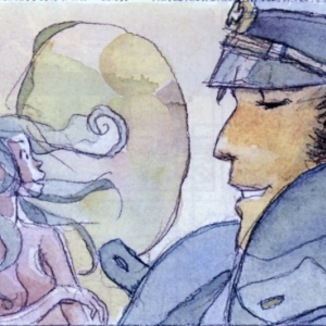 """""""Dans mes BD, les femmes sont parfois plus importantes que """"Corto"""" (c) Hugo Pratt/""""Cong"""" S.A."""