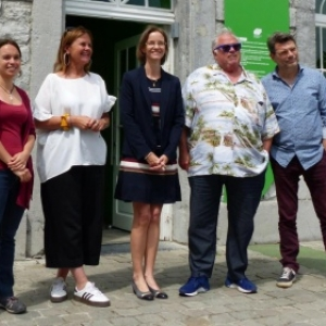 De gauche a droite : Ophelie Mannoy, Christine Laverdure, Anne Barzin, William Sweetlove et Bart Ramakers