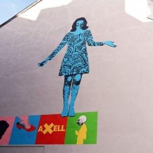 """Fresque en hommage a Evelyne Axell, a hauteur de l' """"Ecole des Beaux-Arts"""" (c) Ville de Namur"""