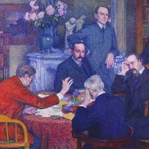 """La Lecture par Emile Verhaeren"", Theo Van Rysselberghe, 1903"