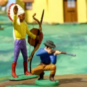 """""""Cowboy"""" et """"Indien"""", dans """"Panique au Village"""" (Stephane Aubier & Vincent Patar)"""