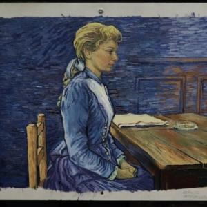 """Une Toile de l Expo """"Loving Vincent"""", au """"Flagey"""""""
