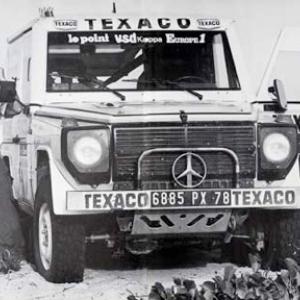 """Avec Claude Brasseur, acteur laureat de deux """"Cesar"""", Jacky Ickx remporte Paris-Dakar, en 1983"""