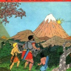 """Couverture du """"Journal de Tintin"""" annoncant """"L Ile maudite""""/1951 (c) Jacques Martin/""""Le Lombard"""""""
