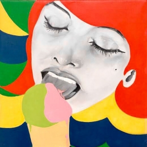 """Ice Cream""/1964/huile sur toile/80 x 70 cm/Coll. privee"