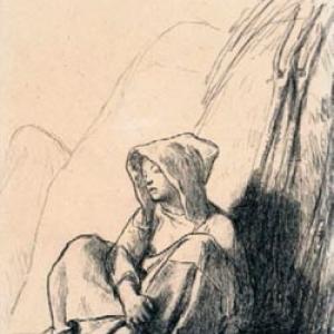 """""""Paysane adossee contre une Meule"""" (c) (c) """"Musée d'Orsay, Dist. RMN-Grand Palais"""" /Sophie Boegly"""