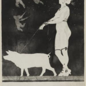 """""""Pornoocrates""""/Albert Bertrand/1896/46 x 69 cm"""