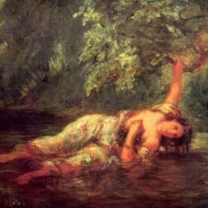 """""""La Mort d'Ophelie"""", Eugene Delacroix, 1853"""