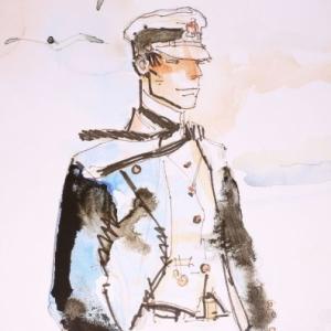 "Au-dela de la legerete de son dessin, (c) Hugo Pratt/""Cong"" S.A. fut un conteur genial"