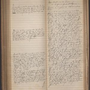 """Un """"Journal"""" d Henry de Groux/Bibliotheque de l """"INHA""""/collection Jacques Doucet"""