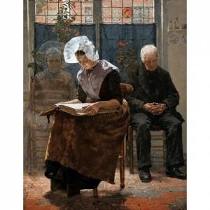 """""""L Absente au Jour des Morts"""" (1889) (c) Walter Mac Ewen (c) Ville de Liege"""